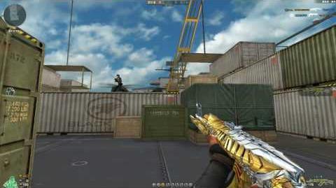Cross Fire China AK47-Knife Born Beast Noble Gold!