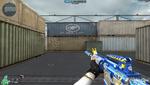 M4A1 S BLUE SILVER DRAGON HUD