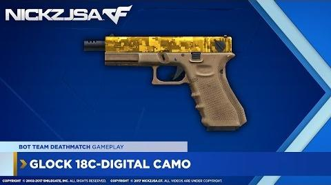 Glock 18C-Digital Camo (Gold) CROSSFIRE China 2.0 EXP