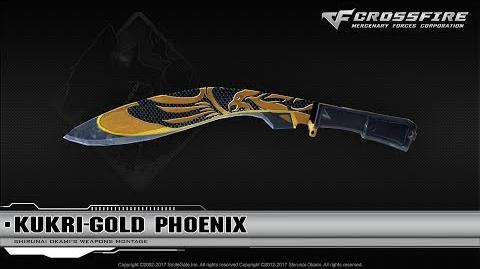 CrossFire China Kukri-Gold Phoenix