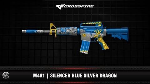 CF M4A1 Silencer Blue Silver Dragon