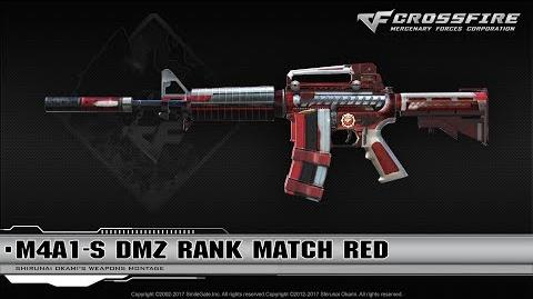 CrossFire China M4A1-S DMZ Rank Match Red (Season 6)