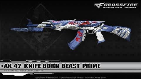 CrossFire China AK-47 Knife-Born Beast Prime (VIP)