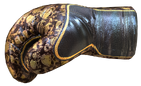 Boxing Gloves Gold Rusty Skull
