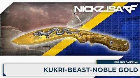 Kukri-Beast-Noble Gold - CROSSFIRE China 2