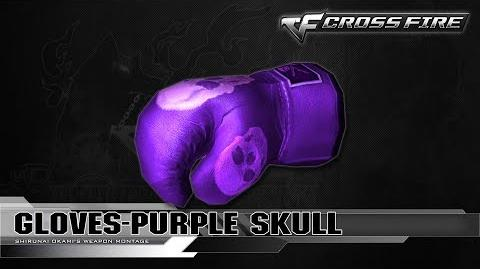 CrossFire China Gloves-Purple Skull ☆