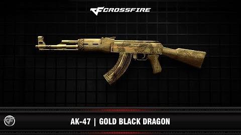 CF AK-47 Gold Black Dragon