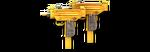 Dual Uzi Gold Render