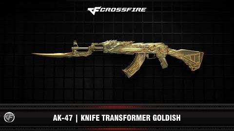 CF AK-47 Knife Transformer Goldish (Beta)