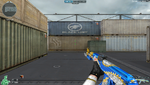 AK47 K BLUE SILVER DRAGON HUD