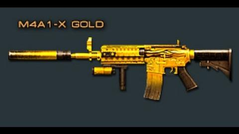 Cross Fire Japan M4A1-X Gold Fire (Assault Rifle) Review !