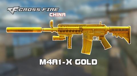 CF China M4A1-X Gold showcase by svanced