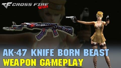 CrossFire - AK-47 Knife Born Beast - Weapon Gameplay
