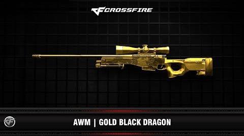 CF AWM Gold Black Dragon