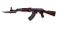 RIFLE AK-47-Knife-RedSpiderweb No Mark