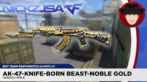 AK-47-Knife-Born Beast-Noble Gold CROSSFIRE China 2.0 (EXP)