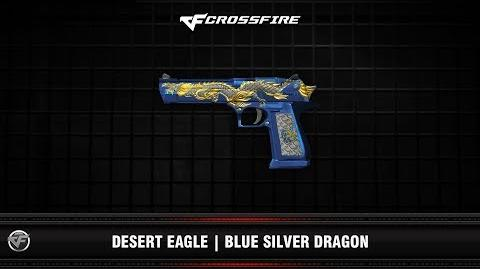 CF Desert Eagle Blue Silver Dragon