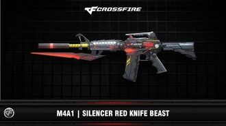 CF M4A1 Silencer Red Knife Beast