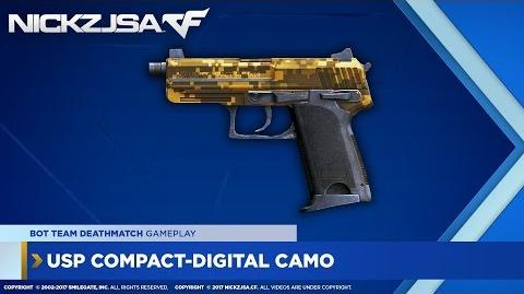 USP Compact-Digital Camo (Gold) CROSSFIRE China 2