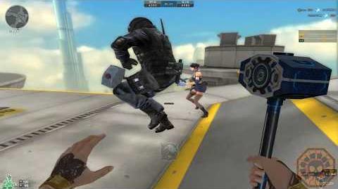 【CF】 Cross Fire China KnockBack Hammer LV 3 - Tower Knock Back (KnockBack Mode)!