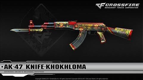CrossFire Vietnam AK-47 Knife-Khokhloma