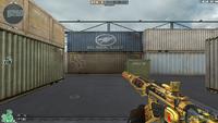 M4A1 S UNDER TECH GOLD HUD