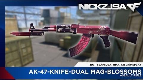 AK-47-Knife-Dual Mag-Blossoms - CROSSFIRE China 2.0 EXP