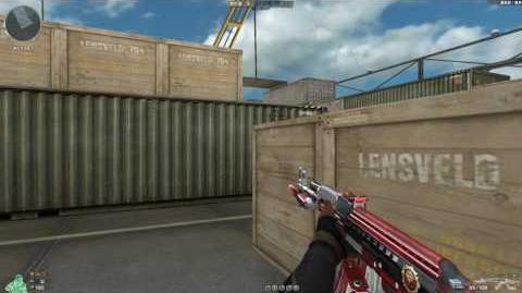 Cross Fire China AK47-Knife Dual Magazine Rank Match Red!