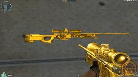 【CF】 Cross Fire West AWM-Gold Black Dragon!