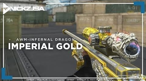 AWM-Infernal Dragon-Imperial Gold CROSSFIRE China 2.0