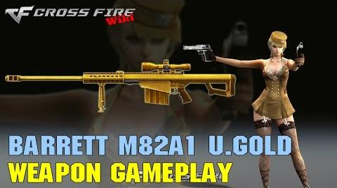 CrossFire - Barrett M82A1 Ultimate Gold - Weapon Gameplay