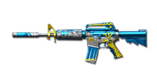 M4A1-S Blue Silver Dragon