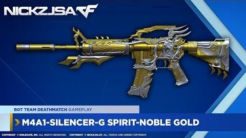 M4A1-Silencer-G Spirit-Noble Gold CROSSFIRE China 2