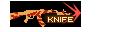 SHOT WEAPON AK47 KNIFE REDSPIDERWEB NOMARK KNIFE