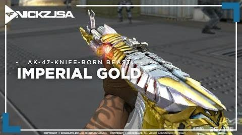 AK-47-Knife-Born Beast-Imperial Gold CROSSFIRE China 2.0