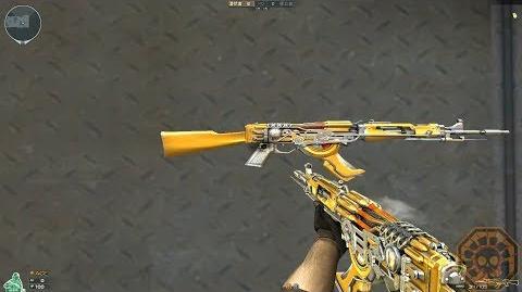 【CF】 Cross Fire China AK47-Knife Steel Empire Noble Gold (王者之城)!