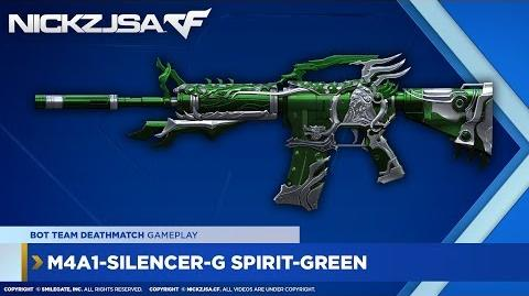 M4A1-Silencer-G Spirit-Green CROSSFIRE China 2
