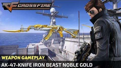 CrossFire - AK-47-Knife Iron Beast Noble Gold