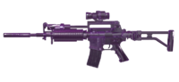 M4A1 Custom Violet Crystal render