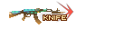 SHOT WEAPON AK47 Knife TurtleShell NoMark KNIFE