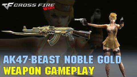 CrossFire - AK-47 Beast Noble Gold - Weapon Gameplay