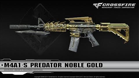 CrossFire Vietnam M4A1-S Predator Noble Gold