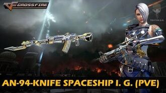 CrossFire Vietnam AN-94-Knife Spaceship Imperial Gold (Zombie Mode)