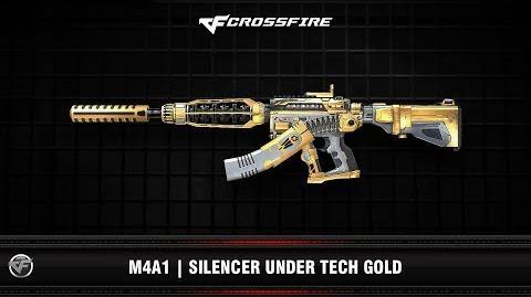 CF M4A1 Silencer Under Tech Gold