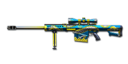 Barrett M82A1 Blue Silver Dragon