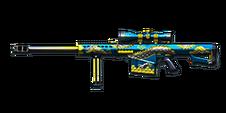 Barrett M82A1 Blue Silver Dragon