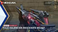 M4A1-Silencer-Red Knife Beast (VVIP) CROSSFIRE China 2