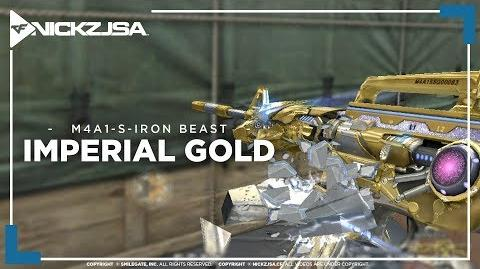 M4A1-S-Iron Beast-Imperial Gold CROSSFIRE China 2