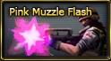 Pink muzzle flash