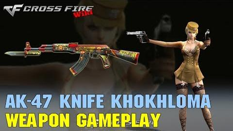 CrossFire - AK-47 Knife Khokhloma - Weapon Gameplay